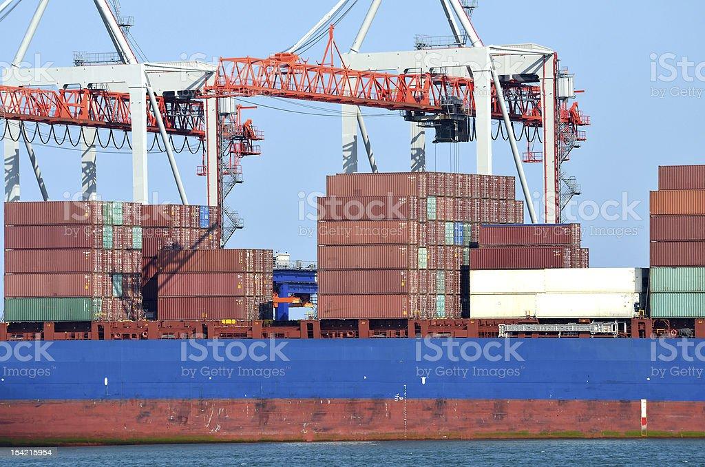 Cargo port royalty-free stock photo