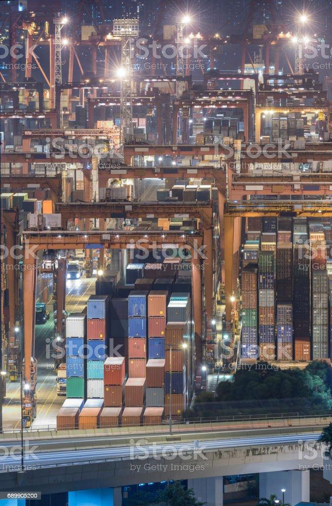 Cargo port stock photo
