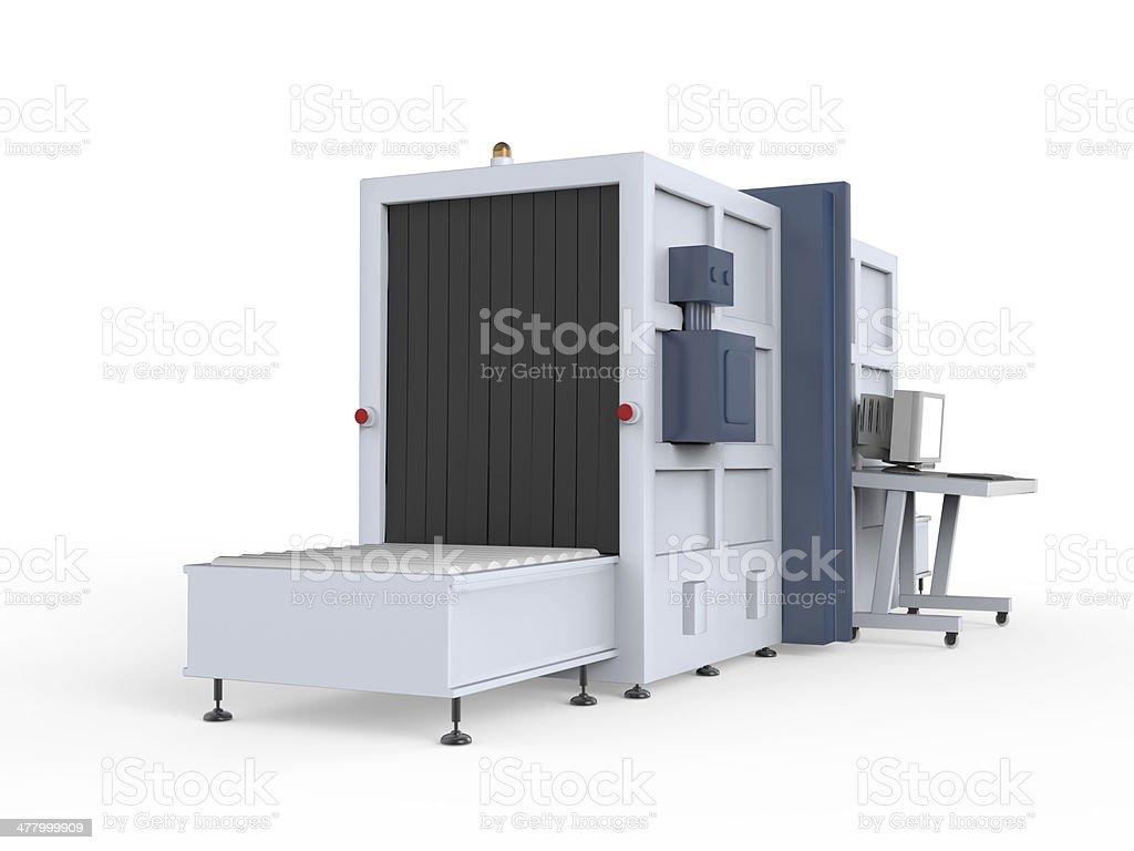 Cargo Screener Isolated stock photo