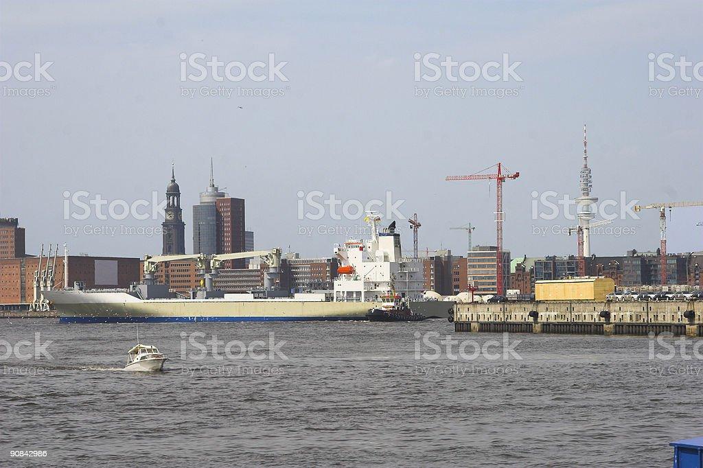 cargo ship 3 royalty-free stock photo