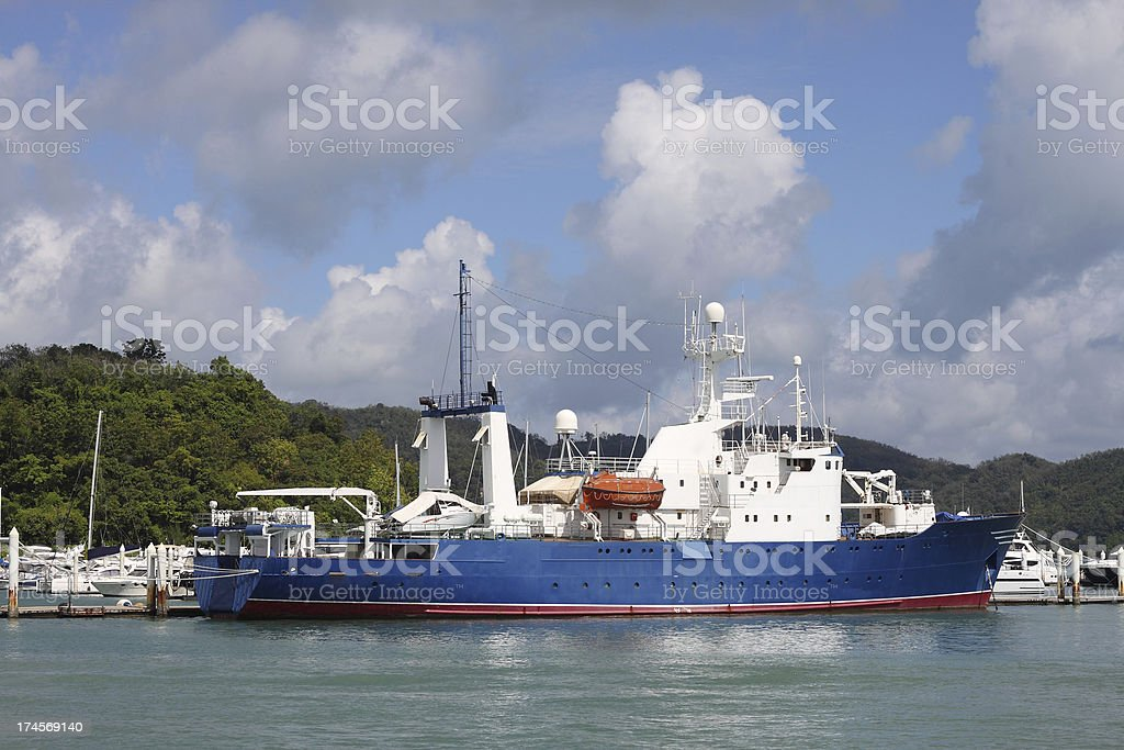 Statek transportowy w zadomowienie się ich. zbiór zdjęć royalty-free
