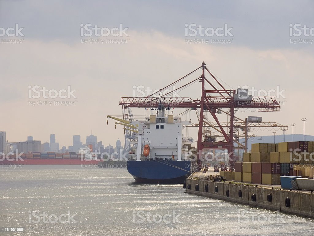 Cargo Ship Docked royalty-free stock photo