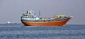 Cargo ship  for transportation in Gulf of Aden