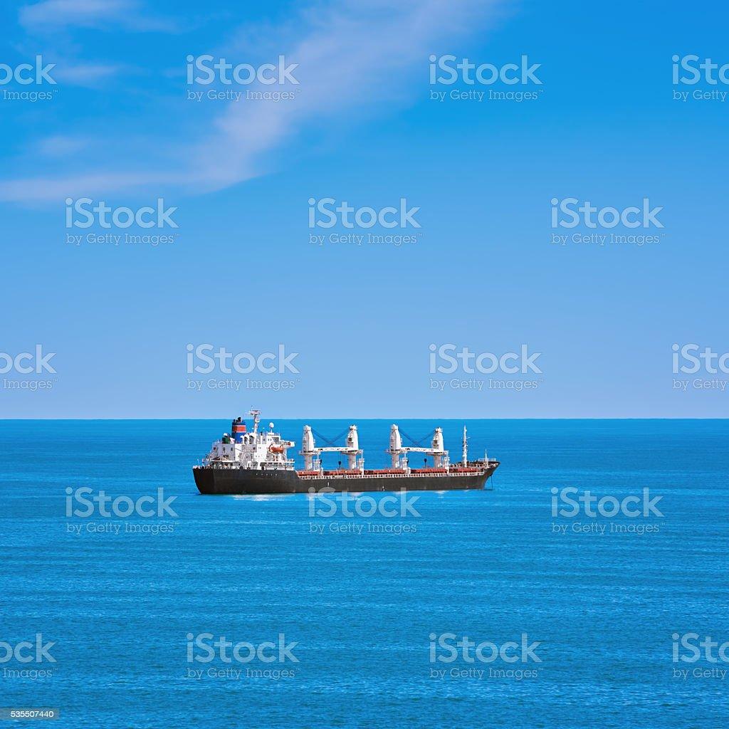 Cargo Ship in the Sea stock photo