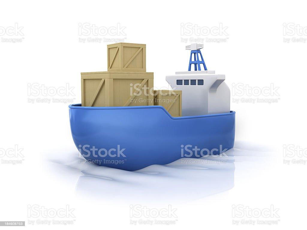 Cargo ship. royalty-free stock photo