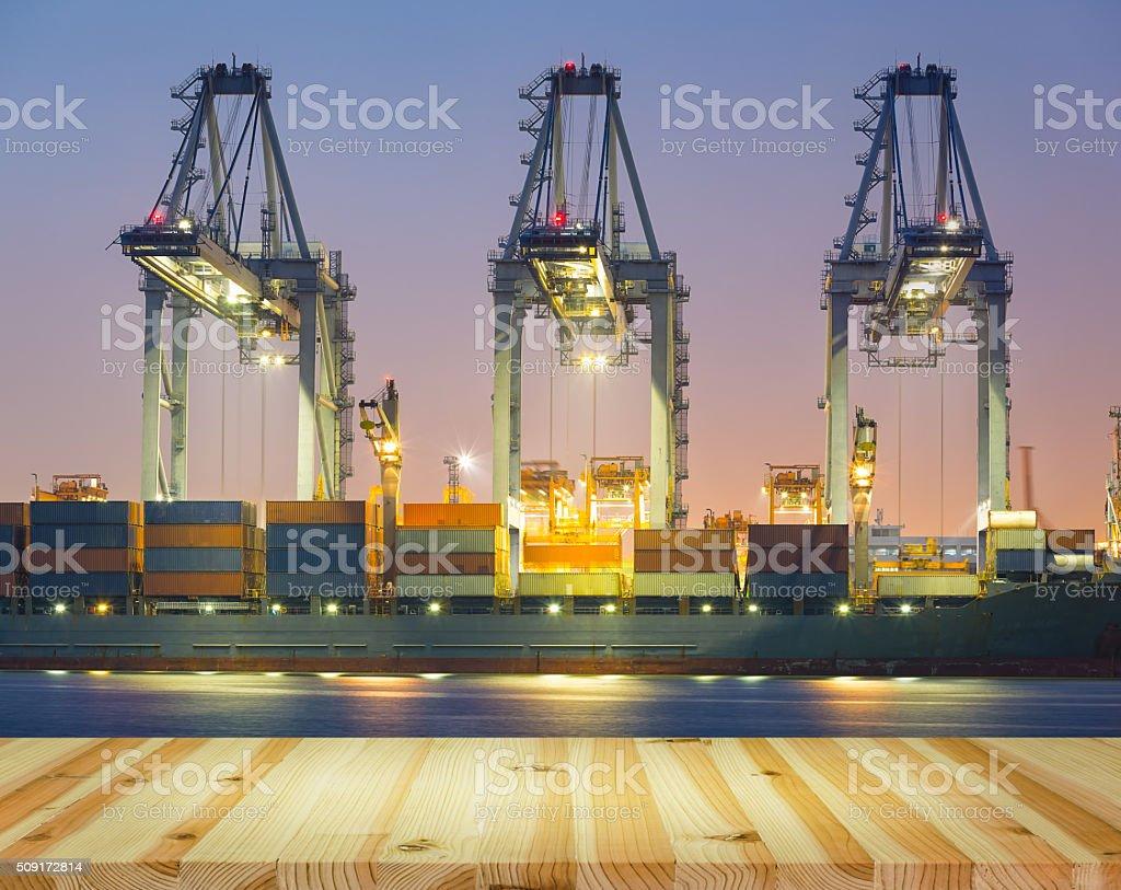 Cargo ship port stock photo