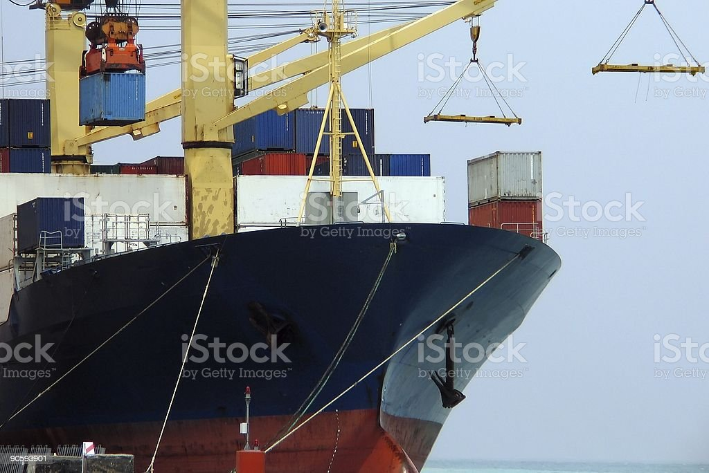Cargo Ship Series 15 stock photo