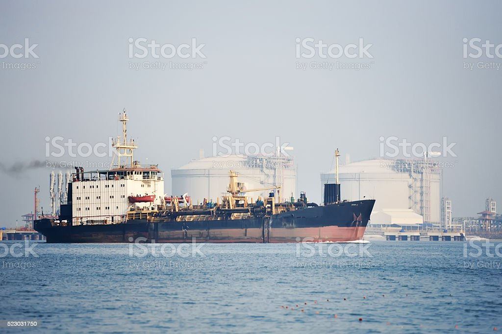 cargo ship transportation stock photo