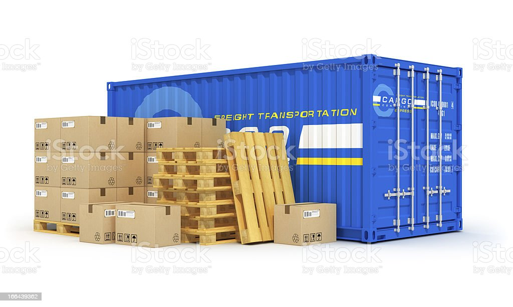 Cargo, shipping and logistics concept royalty-free stock photo