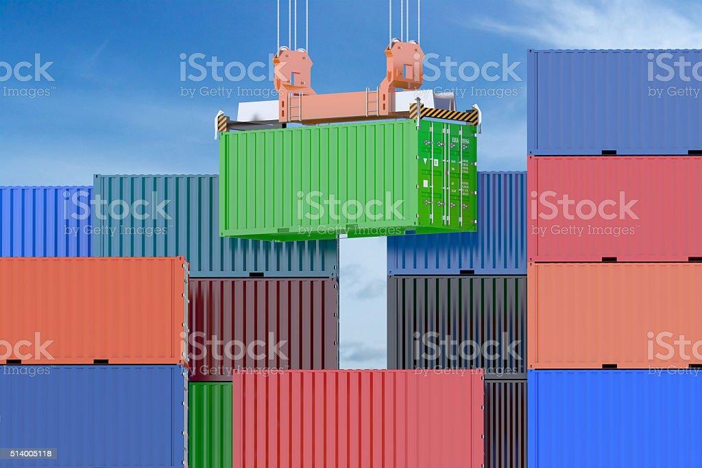 Cargo shipping concept stock photo