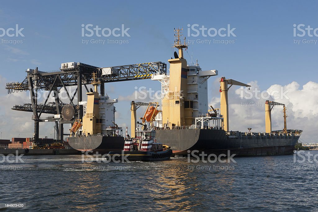 Cargo Ships, Fort Lauderdale royalty-free stock photo
