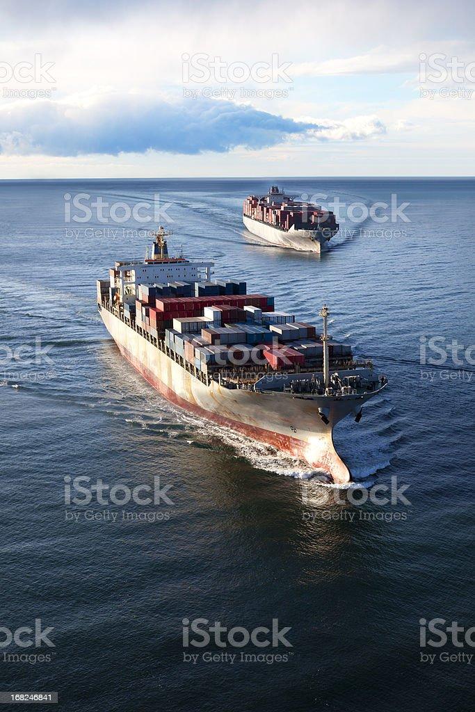 Cargo Ships royalty-free stock photo
