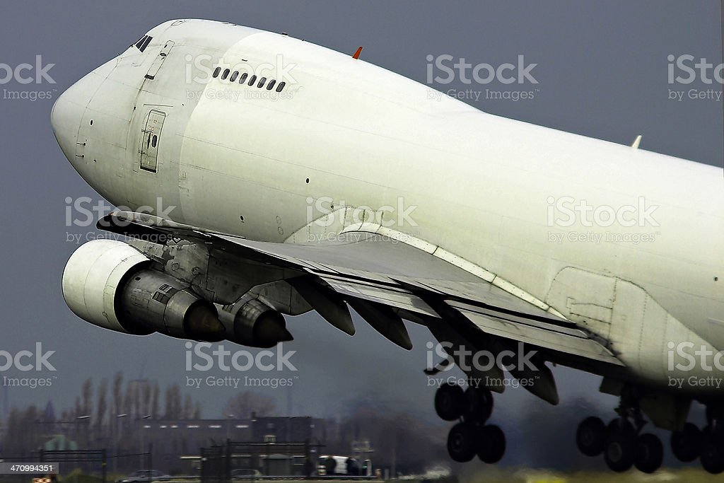 cargo take-off stock photo