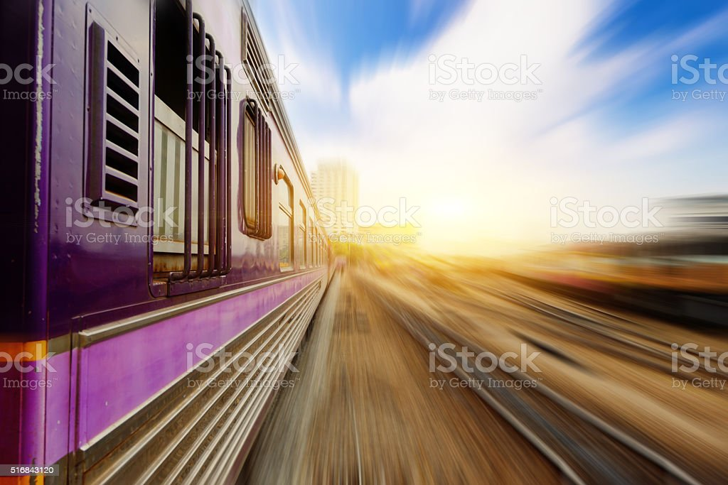 Cargo train platform at  with container stock photo