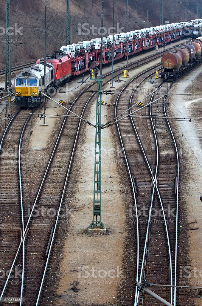 Cargo trains royalty-free stock photo