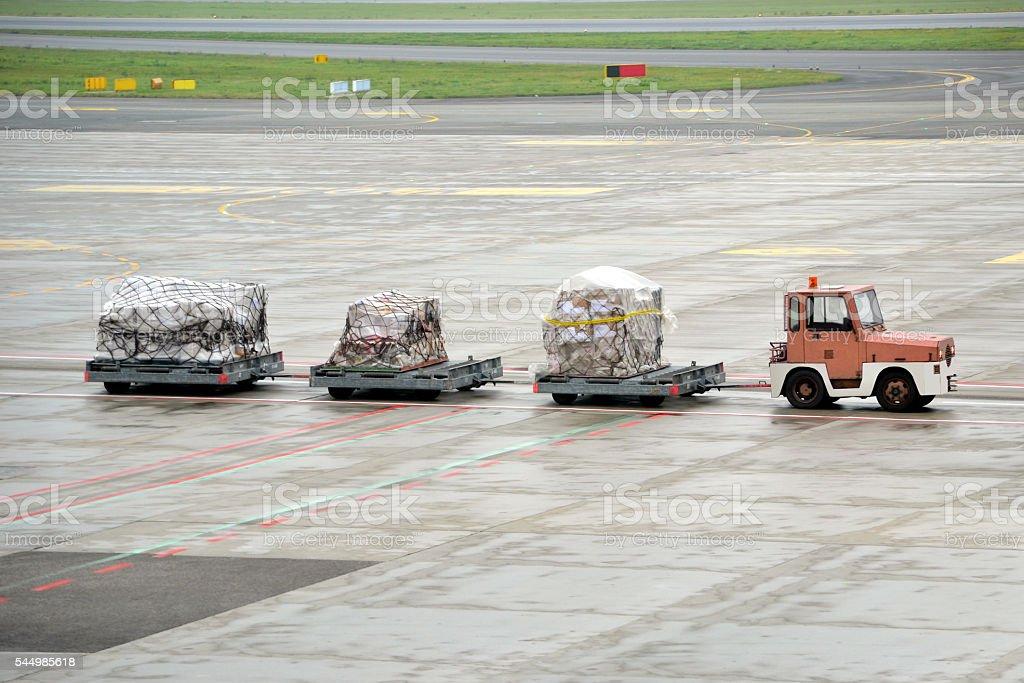 Cargo transportation - airport stock photo