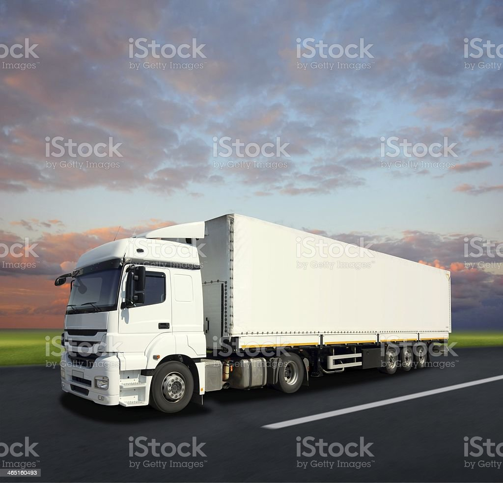 Cargo Truck on the Road stock photo