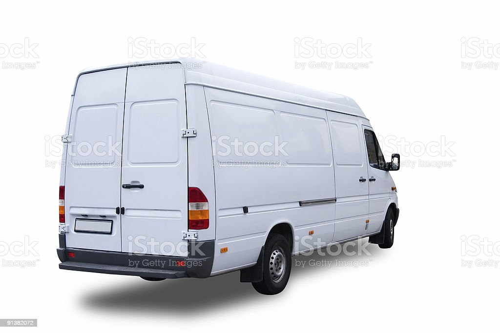cargo van isolated over white background royalty-free stock photo