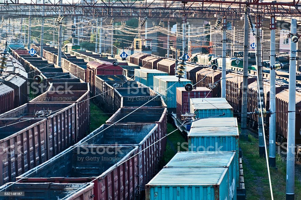 Cargo Wagons stock photo