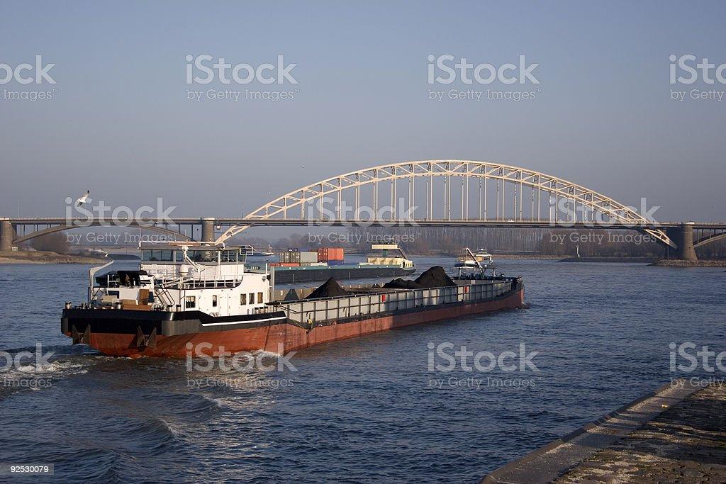 cargoship stock photo
