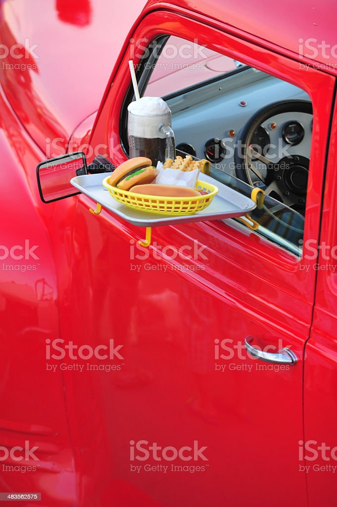 Carhop stock photo