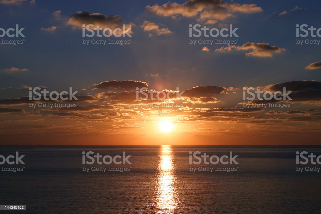 Carib Sunset 2 royalty-free stock photo