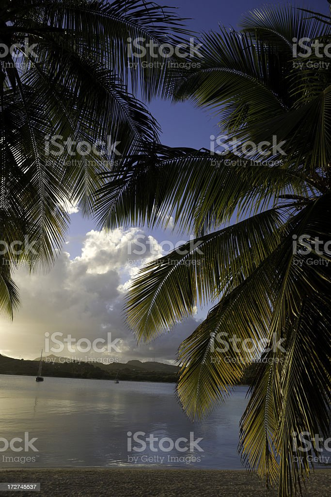 Caribbean Bay stock photo