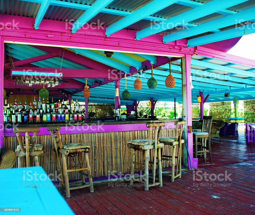 Caribbean Beach Bar stock photo