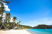 Caribbean beach. Carlisle Bay, Antigua & Barbuda.