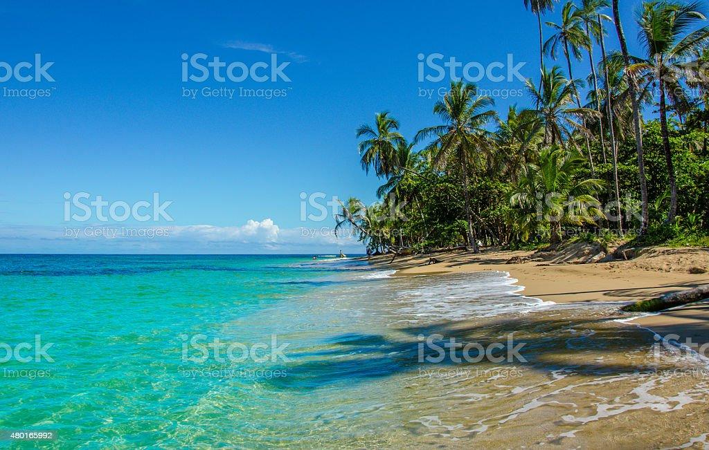 Caribbean beach close to Puerto Viejo - Costa Rica stock photo