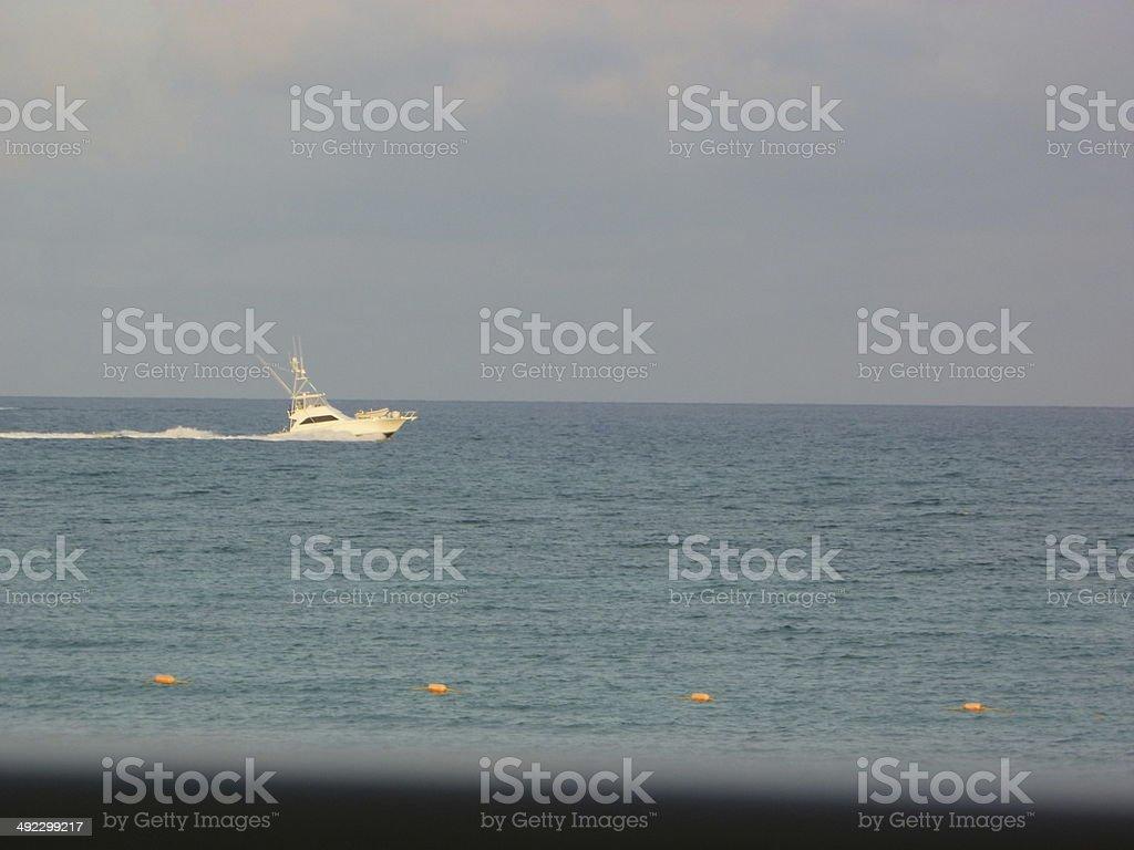 Caribbean Beach from Hotel Window royalty-free stock photo