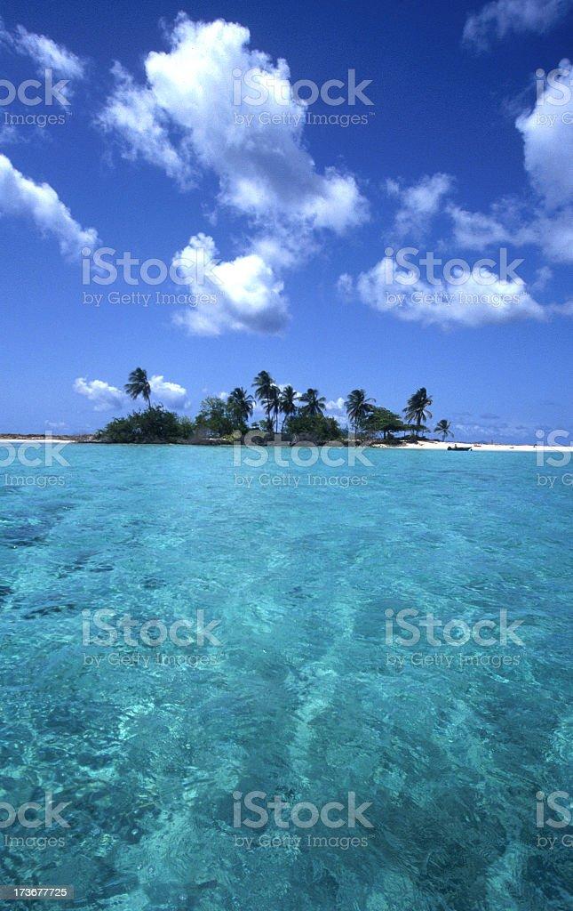 Caribbean beach island royalty-free stock photo