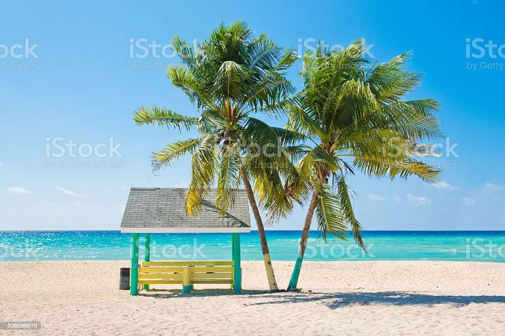 Caribbean Beach stock photo