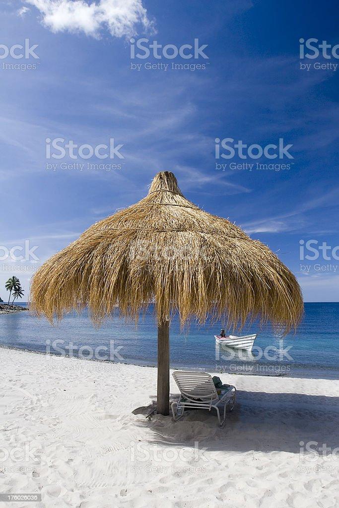 Caribbean Beach Shade royalty-free stock photo