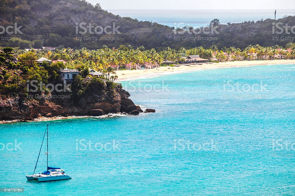 Caribbean beaches. Antigua & Barbuda. stock photo
