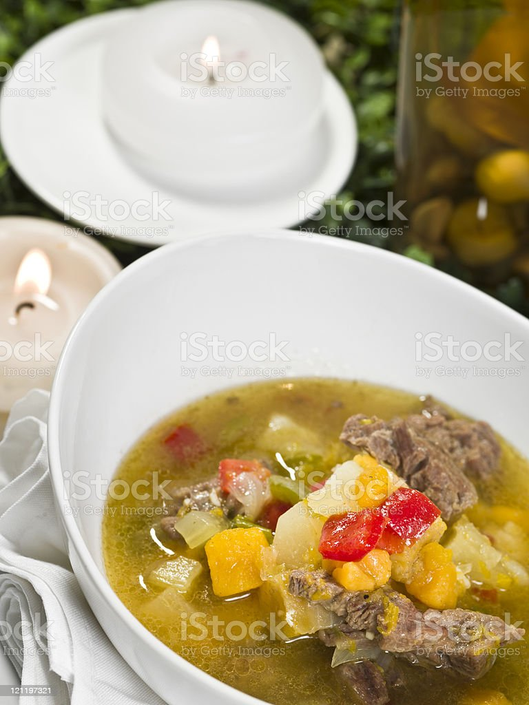 Caribbean Beef Stew stock photo