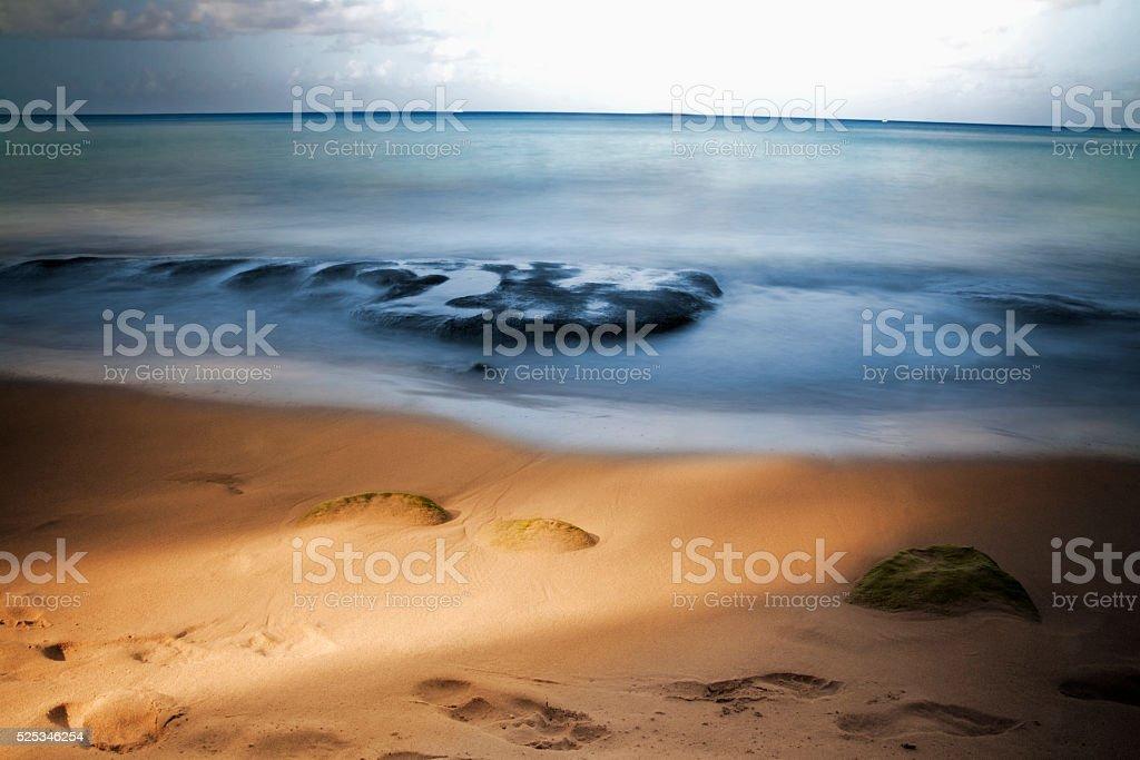 Caribbean Blur enhanced stock photo
