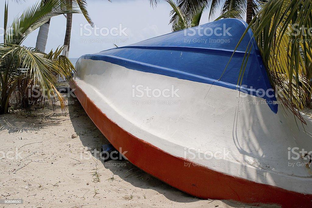 Caribbean boat royalty-free stock photo