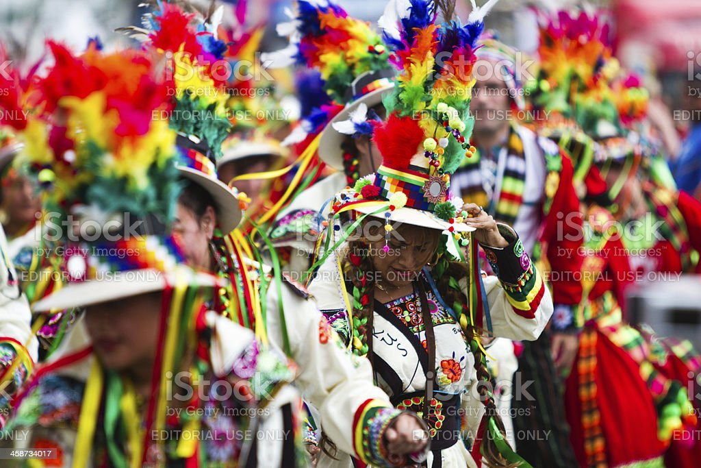 Caribbean Carnaval in Rotterdam stock photo