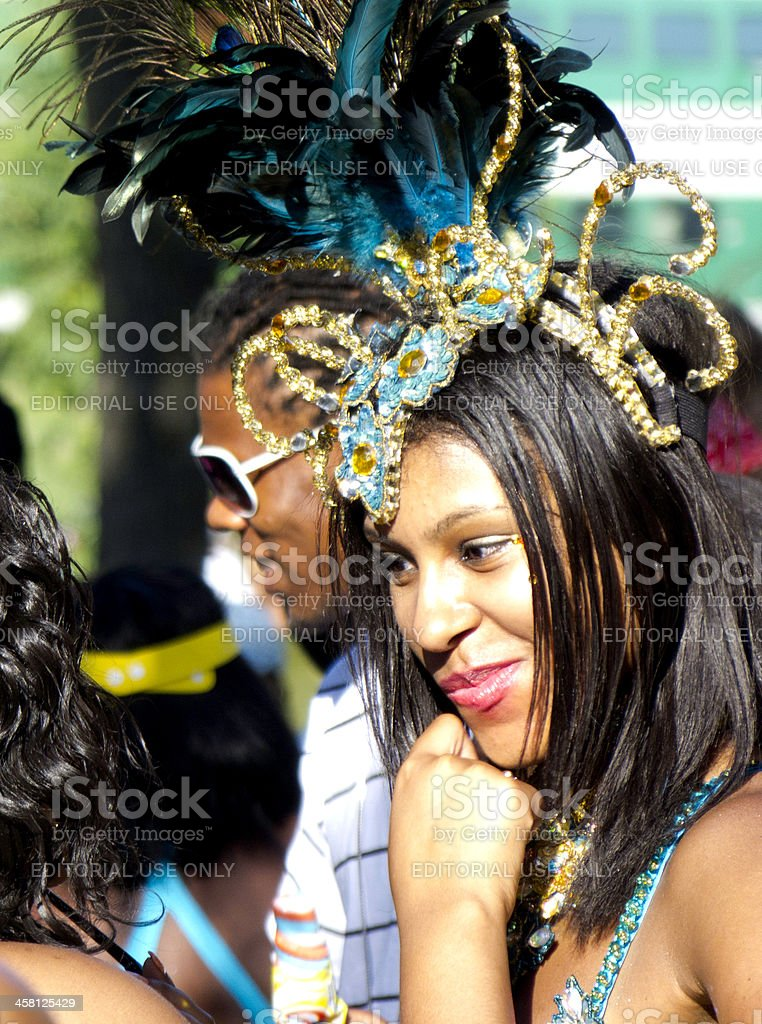 Caribbean Carnival Dancer stock photo