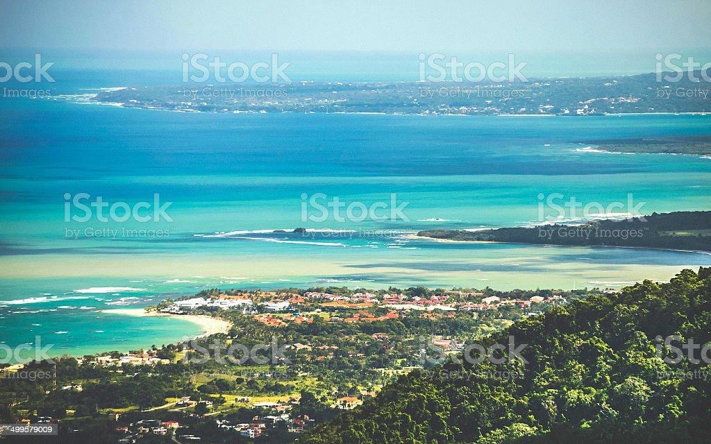 Caribbean coast. stock photo