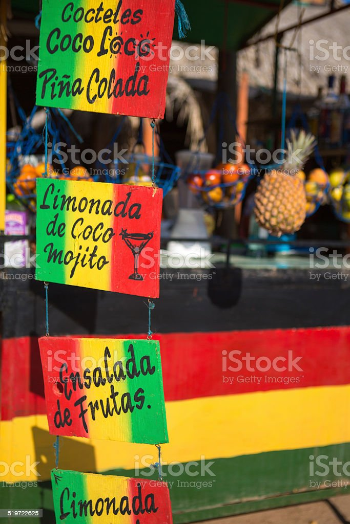 Caribbean Cocktails shop in Taganga stock photo