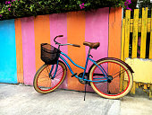 Caribbean color with old bike