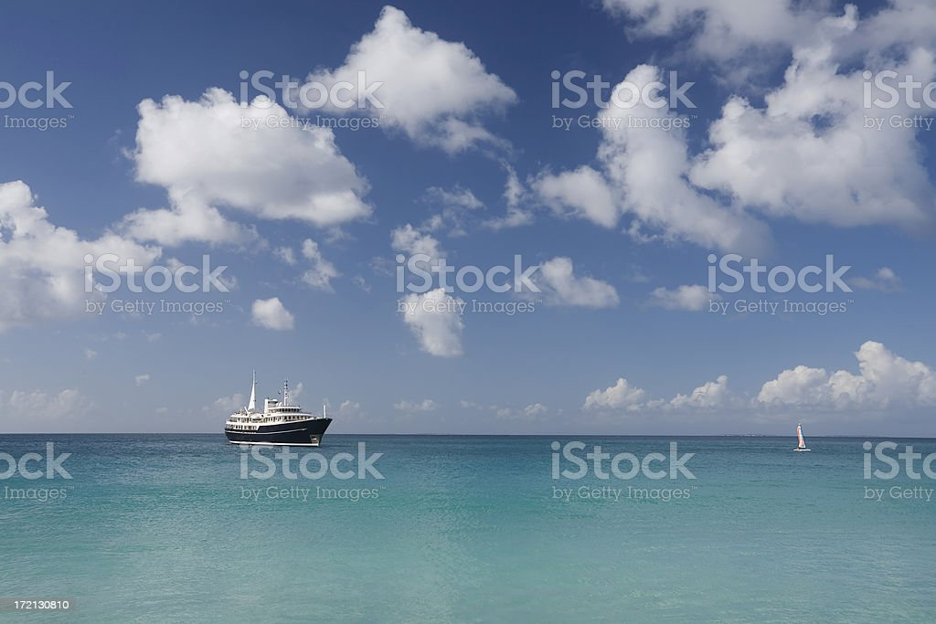 Caribbean Cruising royalty-free stock photo