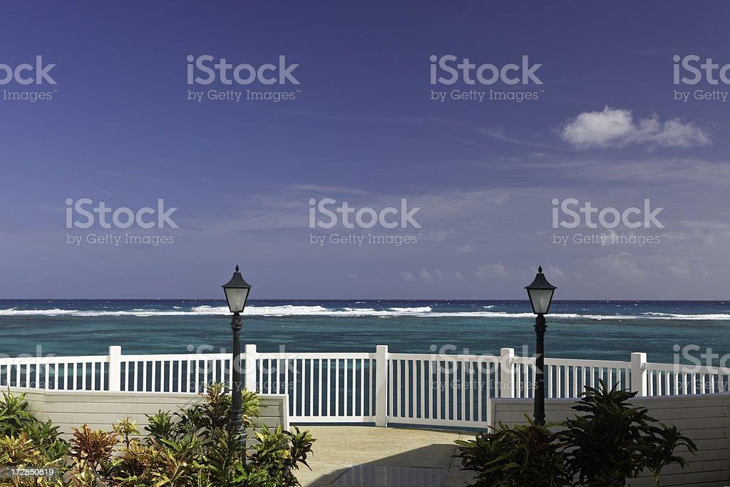 Caribbean Deck royalty-free stock photo