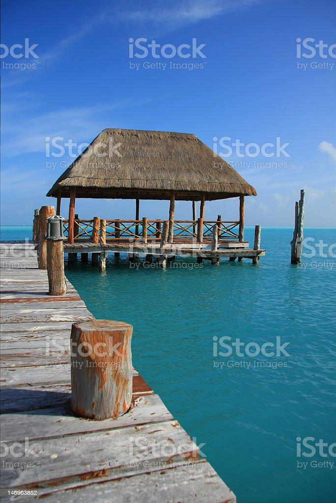 Caribbean dock royalty-free stock photo