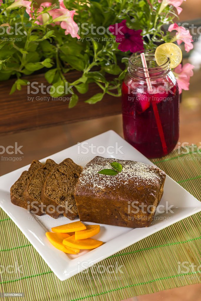 Caribbean Easter Bun and Cheese stock photo