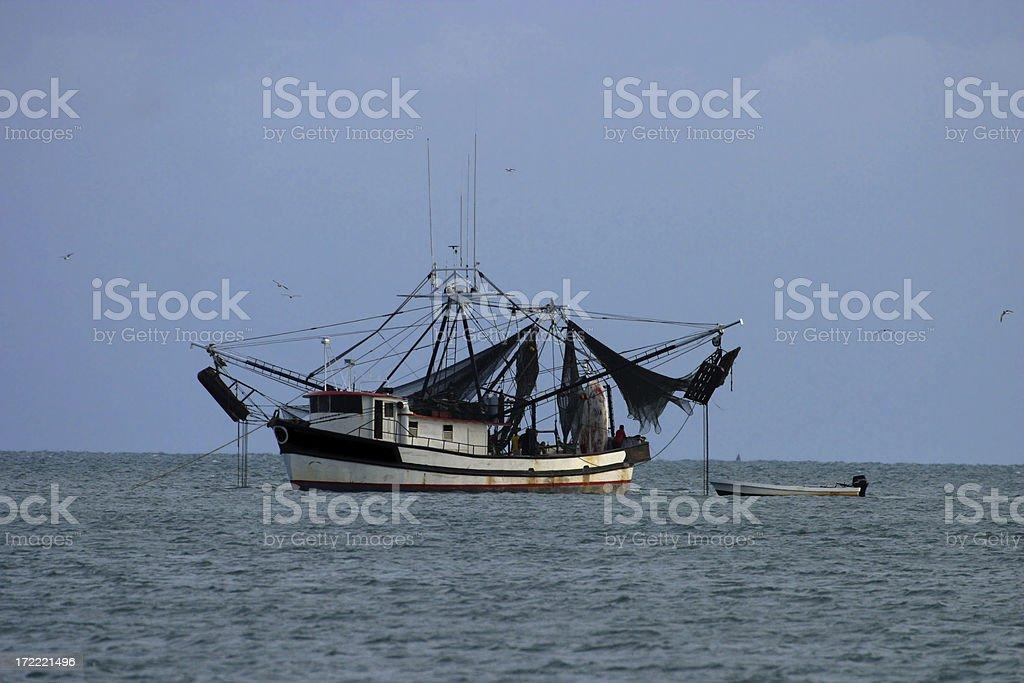 Caribbean Fishing Boat stock photo