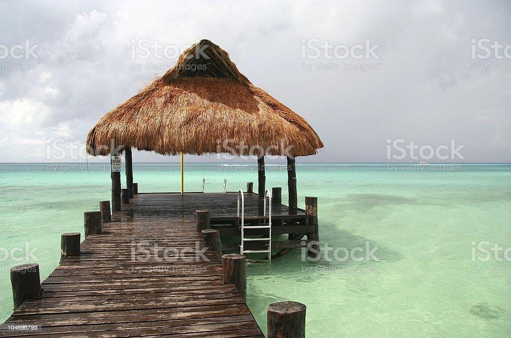 Caribbean Footbridge stock photo