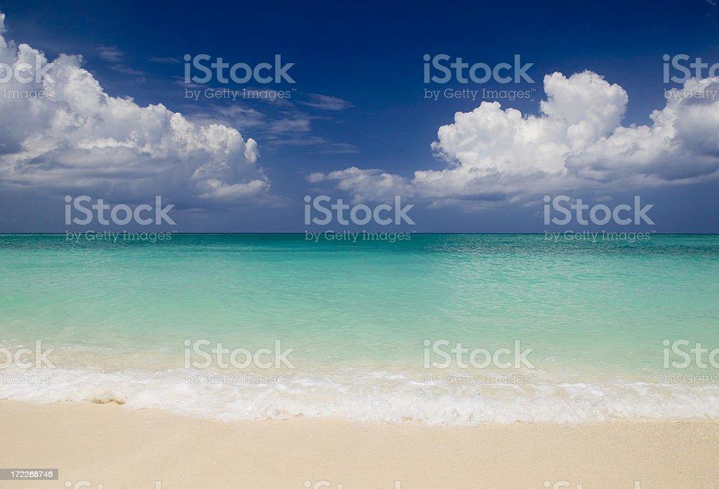 Caribbean golden sand beach royalty-free stock photo